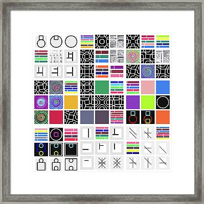 Code Remix - 24 Framed Print