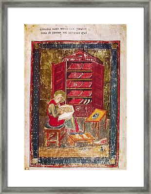 Codex Amiatinus: Ezra Framed Print by Granger