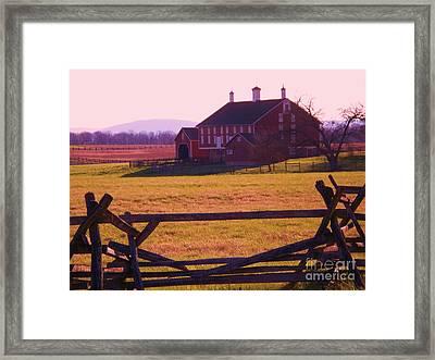 Codori Barn Gettysburg Framed Print by Eric  Schiabor