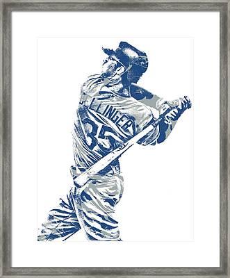 Cody Bellinger Los Angeles Dodgers Pixel Art 10 Framed Print