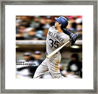 Cody Bellinger, Los Angeles Dodgers Framed Print