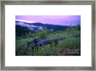 Coeur D'alene Mountains Framed Print by Idaho Scenic Images Linda Lantzy