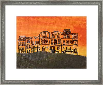 Framed Print featuring the painting Coexistence by Trilby Cole