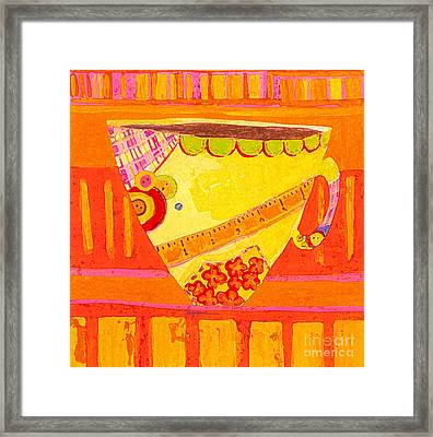 Coffe Mug - Teacup - Tailor Colorful Design Illustration  Framed Print by Patricia Awapara