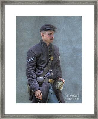 Coffee And A Cigar Union Corporal Civil War Framed Print