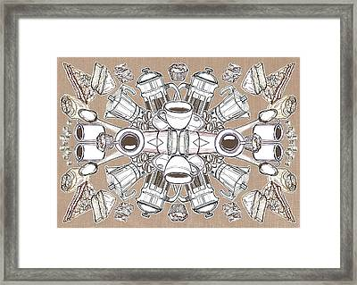 Coffee And Cake Framed Print by Matt Bannister