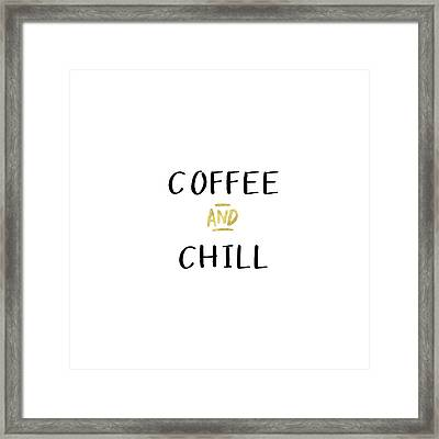 Coffee And Chill-art By Linda Woods Framed Print