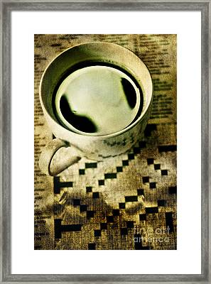Coffee And Crossword  Framed Print by HD Connelly