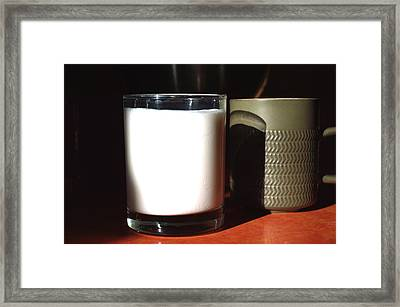 Coffee And Kefir Framed Print