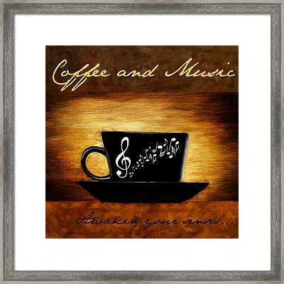 Coffee And Music Framed Print
