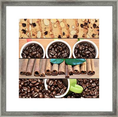 Coffee And Pastry Collage Framed Print by Serena King