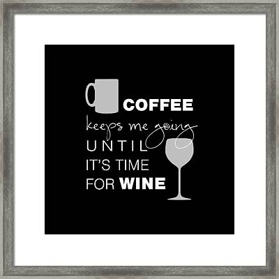 Coffee And Wine Framed Print by Nancy Ingersoll
