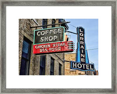 Coffee At The Lorraine Hotel Framed Print