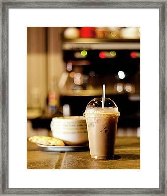 Coffee Bar Atmosphere Framed Print