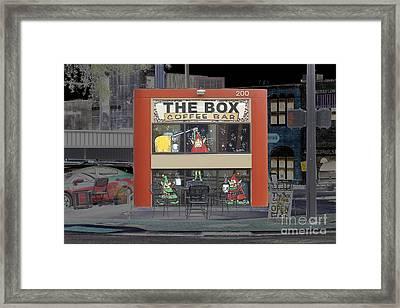 Coffee Bar In The Box Framed Print