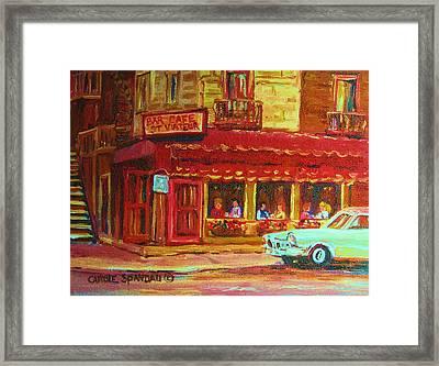 Coffee Bar On The Corner Framed Print by Carole Spandau