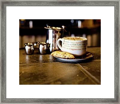 Coffee Bar Framed Print