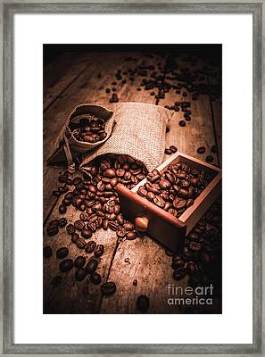 Coffee Bean Art Framed Print by Jorgo Photography - Wall Art Gallery