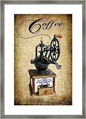 Coffee Bean Grinder Framed Print by Daniel Hagerman