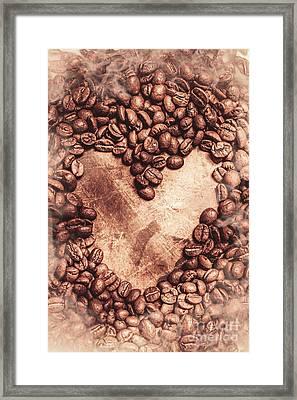 Coffee Bean Hearts Framed Print by Jorgo Photography - Wall Art Gallery