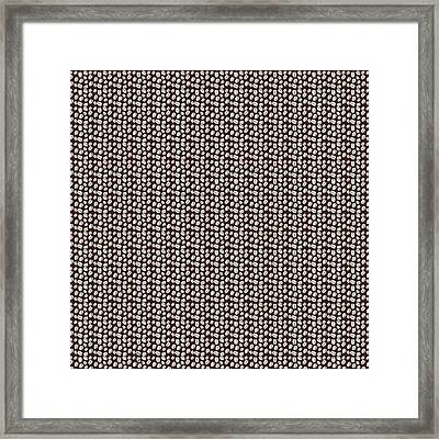 Coffee Beans Background Framed Print by Serena King