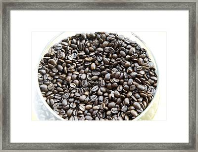 Coffee Beans From Brazil  Framed Print by Steve Outram