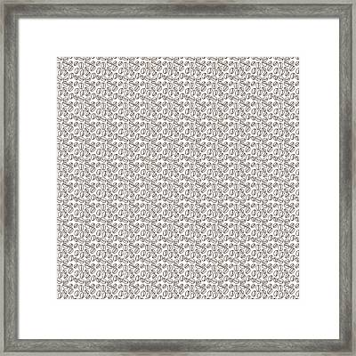 Coffee Beans Pattern  Framed Print by Serena King