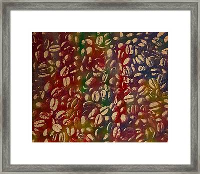Coffee Beans Watercolor Portrait Framed Print