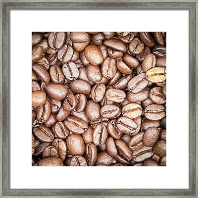 Coffee Beans Framed Print by Wim Lanclus