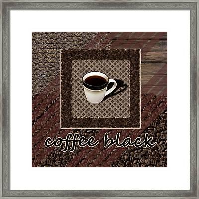 Coffee Black - Coffee Art Framed Print