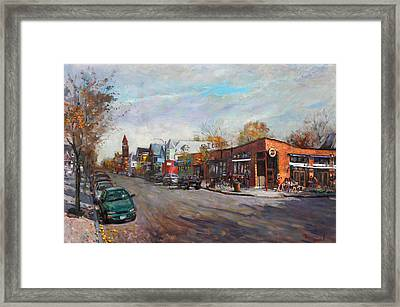 Coffee Break At Spot Framed Print