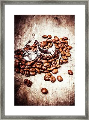 Coffee Break At The Tea House Framed Print