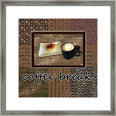 Coffee Break - Coffee Art Framed Print