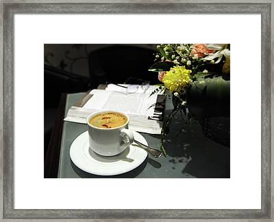 Coffee Break Framed Print by Graham Taylor