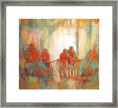 Coffee Break Framed Print by LaDonna Kruger