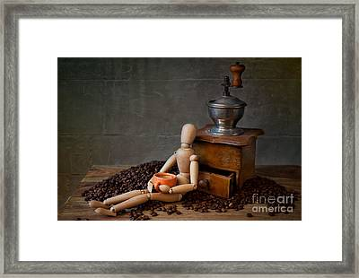 Coffee Break Framed Print by Nailia Schwarz