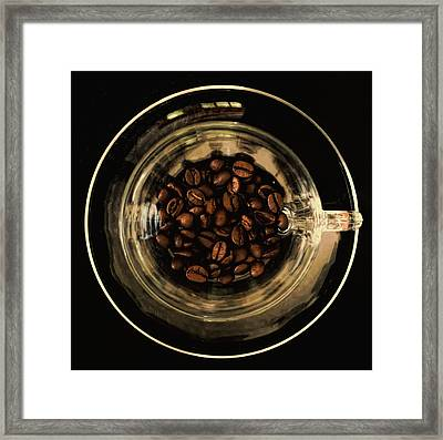 Coffee Break Square Framed Print by Terry DeLuco