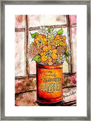 Coffee Can Bouquet  Framed Print