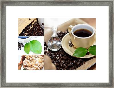Coffee Collage  Framed Print by Serena King