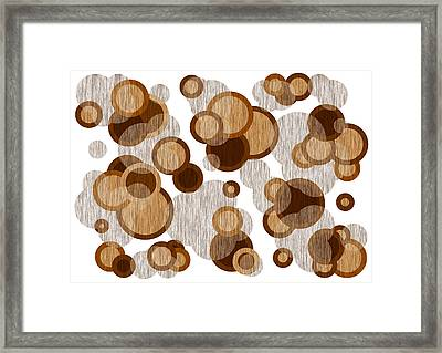 Coffee Colored Circles Framed Print by Frank Tschakert
