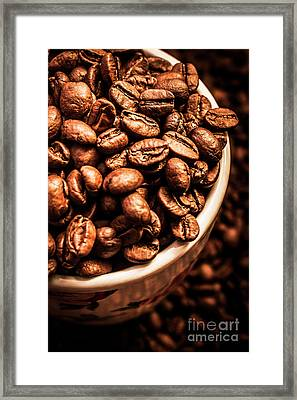 Coffee Cup Top Up Framed Print
