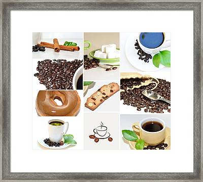 Coffee Display Collage Framed Print by Serena King
