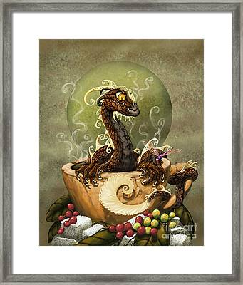 Coffee Dragon Framed Print by Stanley Morrison