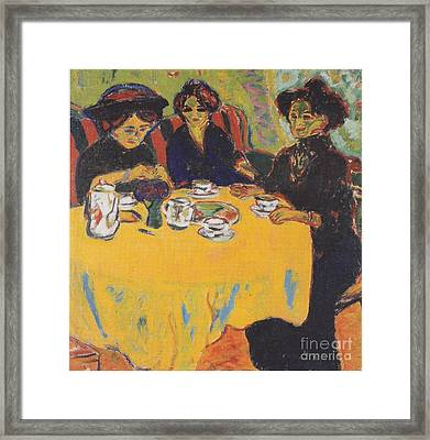 Coffee Drinking Women  Framed Print by Celestial Images