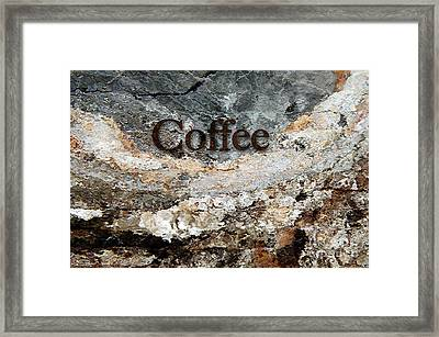Coffee Edit 2 Brown Letters Framed Print