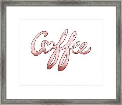 Coffee Framed Print by Edwin Alverio