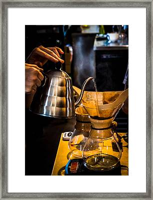 Coffee First Framed Print