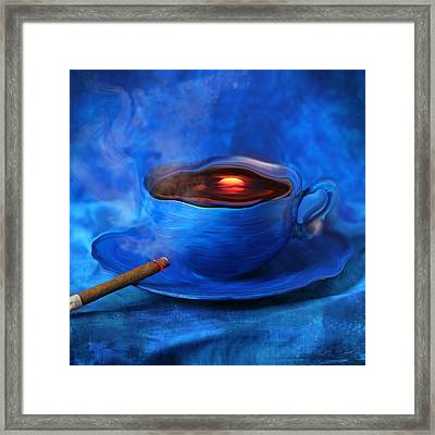 Coffee For Mister Klein Framed Print by Floriana Barbu