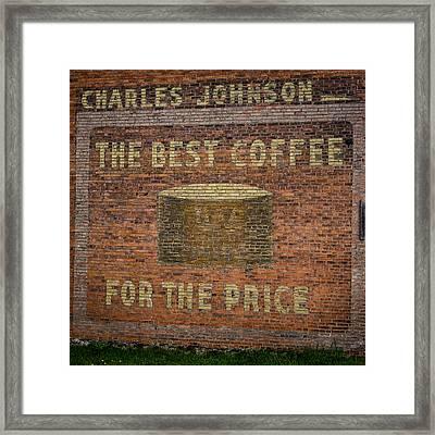 Coffee Ghost Sign Framed Print by Paul Freidlund