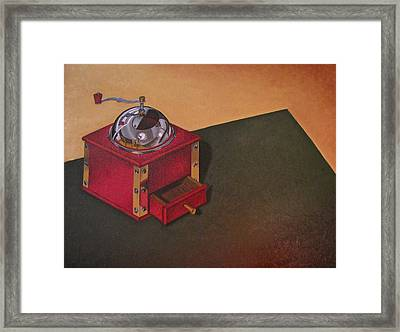 Framed Print featuring the painting Coffee Grinder by Lori Miller